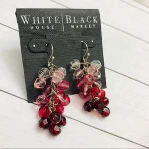 White House Black Market PINK RED Earrings NEW